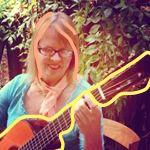 Katepainted guitar