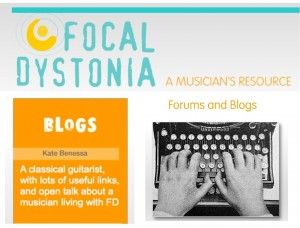 focal dystonia kate benessa